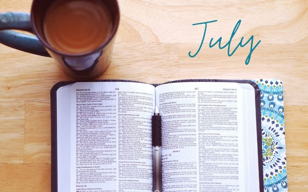 July Scripture Writing Plan – Worry & Anxiety