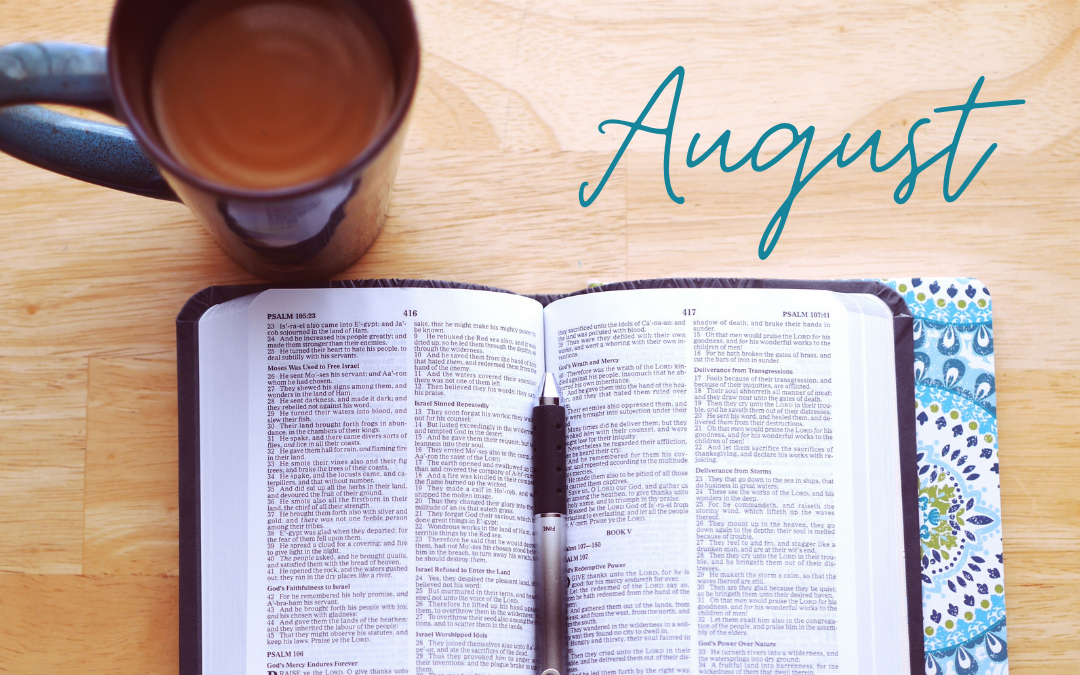 August Scripture Writing Plan – Patience