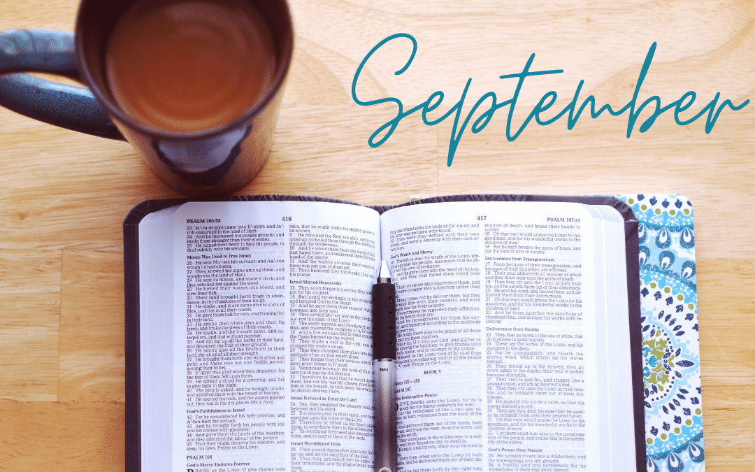 September Scripture Writing Plan – Releasing Stress